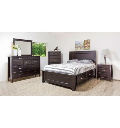 BOYD Wood Bedroom Set with Storage Bed