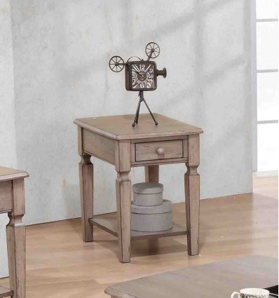 Malibu Grey End Table