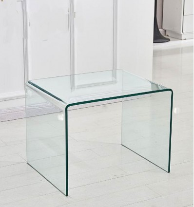 Moraine Glass End Table