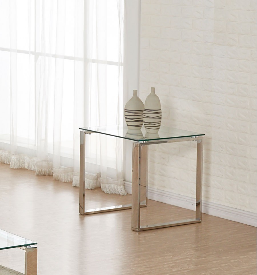 Tron Glass End Table