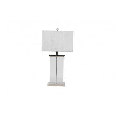 Crystal Plaque Table Lamp