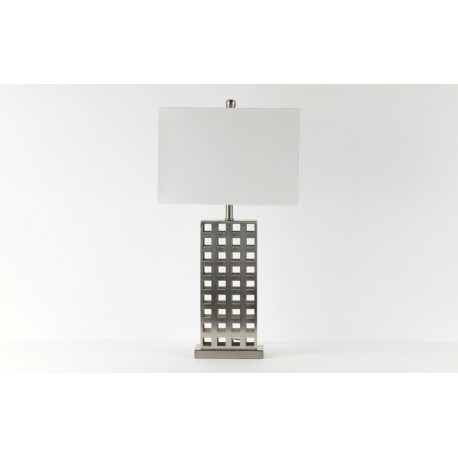 Metal Square-Mesh Table Lamp