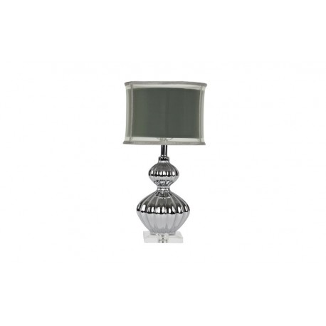 Silver Fluted Table Lamp