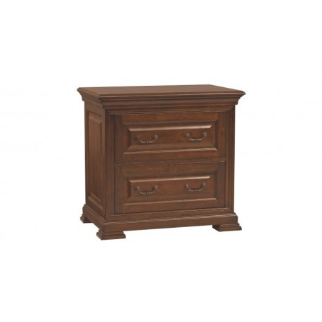Classic Cherry Two Drawer Lateral File Cabinet
