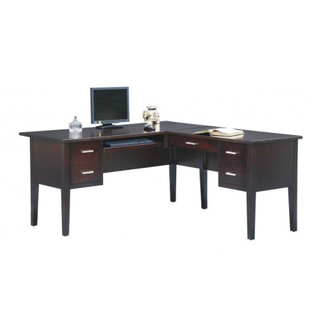 Kingston Espresso 62 inch Desk with Return