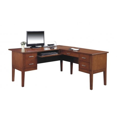 Kingston Walnut 62 inch Desk with Return