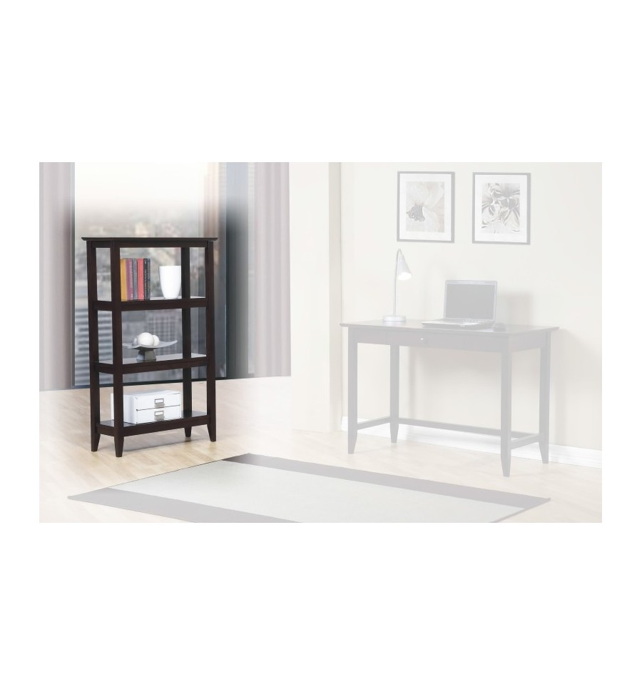 Quadra Espresso Bookcase