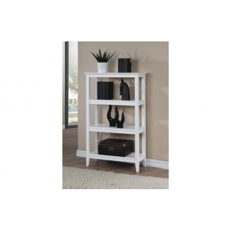 Quadra White Bookcase