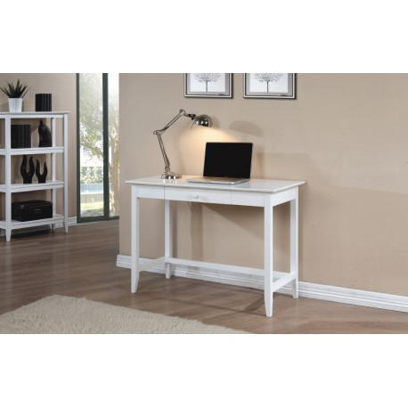 Quadra White Writing Desk