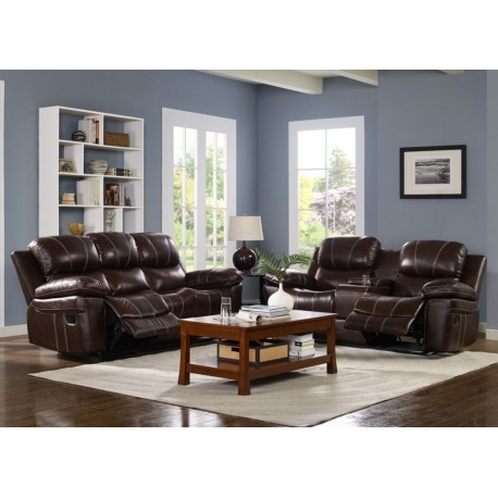 LEGATO LEATHER RECLINING LIVING ROOM SET
