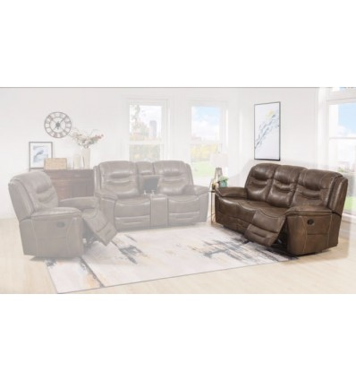 Cyrus Leather Power Reclining Sofa