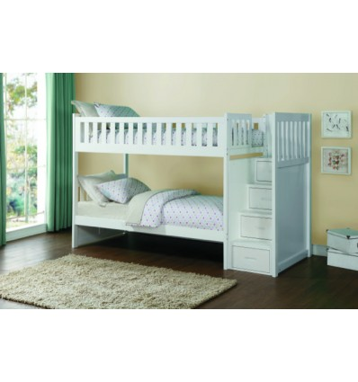 Kelly White Step-Up Bunkbed